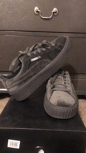 Fenty Creeper Gray Velvet Sneaker for Sale in Washington, DC
