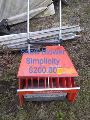 Simplicity snow blower for Sale in Hublersburg, PA