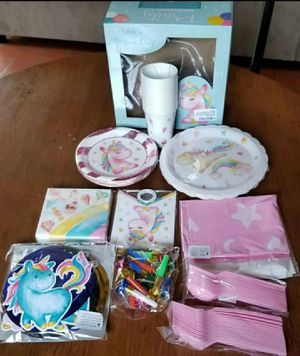 Unicorn Party Supplies Pack | Serves 16 Guests for Sale in Dyersburg, TN