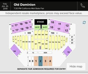 Old Dominion Tickets for Sale in Nipomo, CA