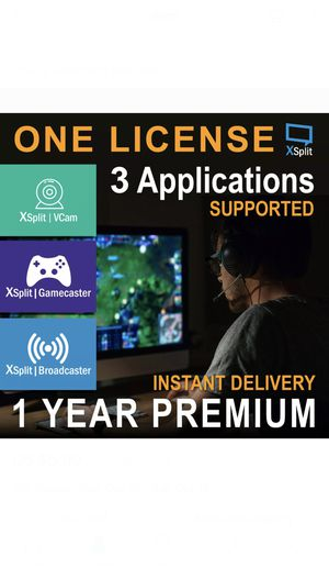 XSplit Gamecaster 1 YEAR Premium License(3 Application supported,free region) super fast delivery for Sale in Los Angeles, CA