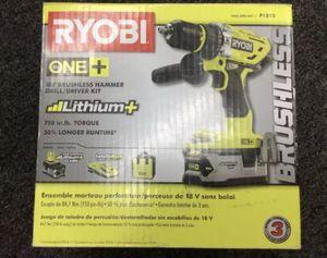 BRAND NEW Ryobi P1813 18-Volt Lithium Ion ONE+ Brushless Hammer Drill Kit for Sale in St. Petersburg, FL