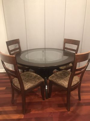 Wood and glass kitchen table set for Sale in San Diego, CA