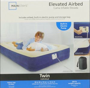Twin Air Mattress with Built-In Electric Pump for Sale in Winter Park, FL