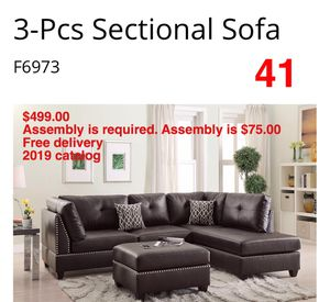 Sofa. Assembly required. Free delivery for Sale in Whittier, CA