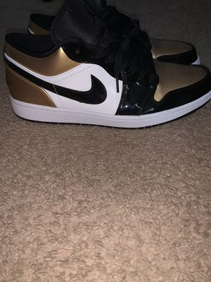 Jordan 1 low gold toe size 13 for Sale in Kissimmee, FL