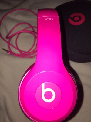 Pink Beats Solo 2 Wired On Ear Headphones for Sale in Raynham, MA