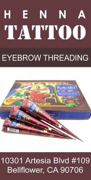 Henna cone for parties eyebrows threading for Sale in Bellflower, CA