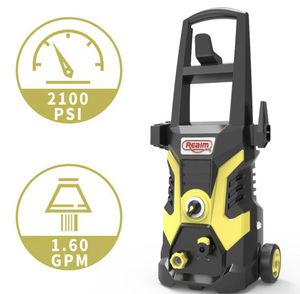 Realm BY02-BCOH, Electric Pressure Washer, 2100 PSI, 1.6 GPM,13 Amp Yellow Black for Sale in Las Vegas, NV