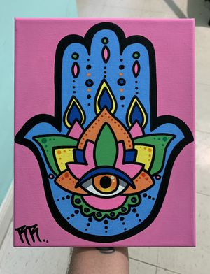 Hamsa hand painting for Sale in Queens, NY