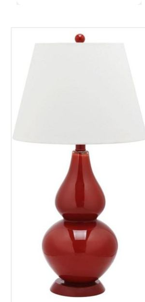 Safavieh Cybil 26 .5 in. Red Double Gourd Glass Table Lamp with Off-White Shade for Sale in Mesa, AZ
