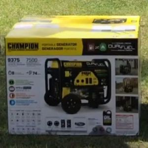 Champion Brand New/Unopened 100165 9375/7500-Watt Dual Fuel Portable Generator with Electric Start for Sale in Cranston, RI