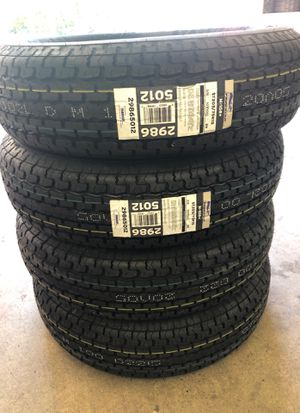 Set of 4 st205/75/15. Trailer tires for Sale in Tacoma, WA