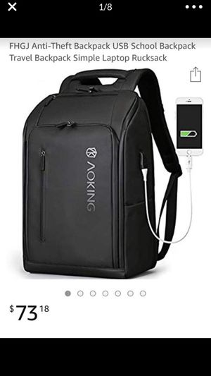 FHGJ Anti-Theft Backpack USB School Backpack Travel Backpack Simple Laptop Rucksack for Sale in La Puente, CA