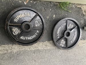 2 35lbs plates for Sale in Salinas, CA