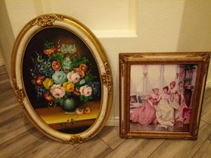 Wood frame antique pictures for Sale in Moreno Valley, CA