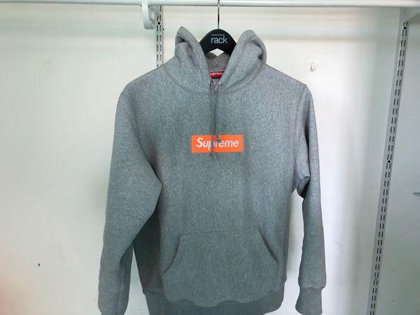 b74801ed Supreme Box Logo Stockx authentic gray on orange Box Logo hoodie ...