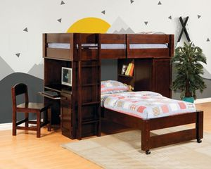 Bunk Bed W/Loft Work Station New for Sale in Margate, FL