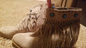 Tan heels with Fringe for Sale in Owasso, OK