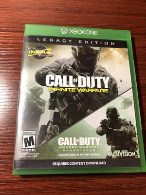 Call of Duty: Infinite warfare/Modern Warfare Remastered (Xbox One) for Sale in Jackson Township, NJ