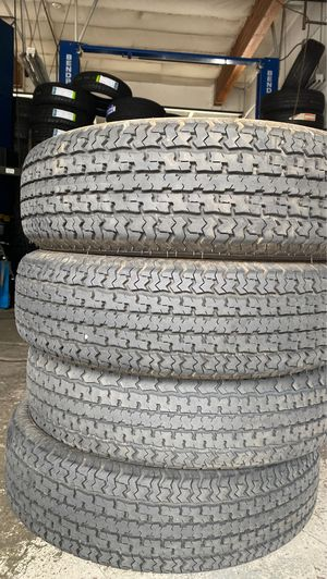 4 used trailer tires ST 225/75/15 for Sale in Gresham, OR