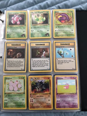 pokemon collection of 196 cards some vintage 1st edition for Sale in Seattle, WA