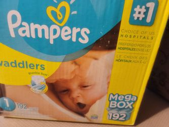 SIZE 1 Pampers Swaddlers 192ct for Sale in Modesto, CA