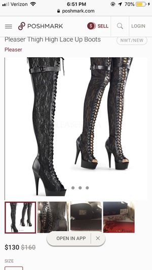 Pleasure thigh high lace up boots/heels for Sale in Las Vegas, NV