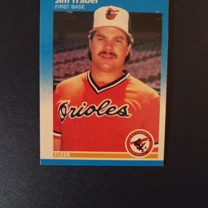 Jim Traber 1987 Fleer Baseball Card for Sale in Woodbine, MD