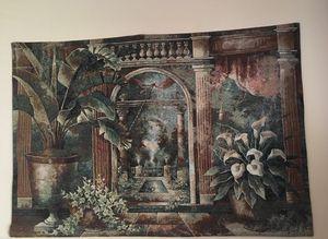 Tapestry pillars plants outdoor scene for Sale in Williamsburg, VA