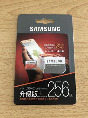 Samsung Evo Plus 256 Micro SD Card with Adapter for Sale in La Mesa, CA