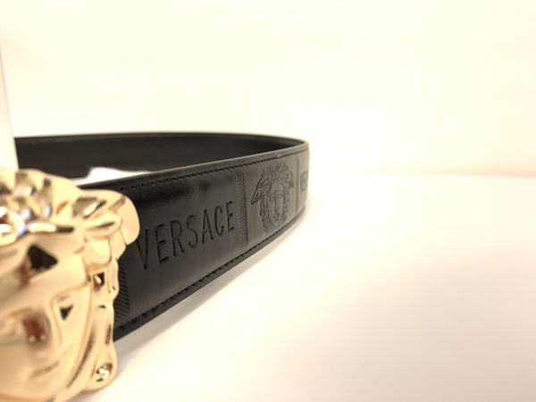 BELT NEW GENUINE LEATHER GOLD DESIGNER MEDUSA BUCKLE FASHION LUXURY