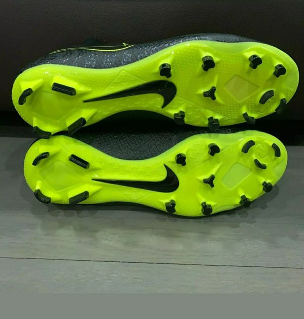 New Nike Men's Phantom Vision Pro DF FG Soccer Cleats Black Volt Size 9.5