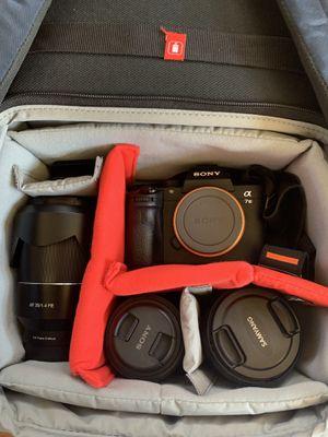 Sony A7iii W/ 35mm 1.4 & 50mm 1.8 Lens- Bundle! for Sale in Roseville, CA