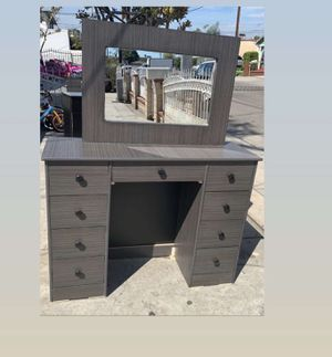 grey dresser with mirror $175 for Sale in Bell, CA