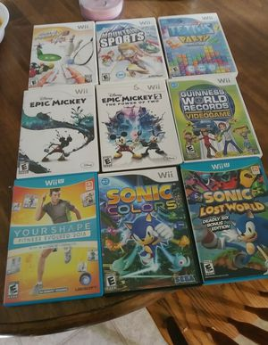 Wii and Wii u games for Sale in BETHEL, WA