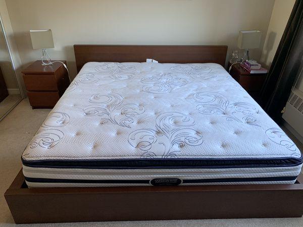 4 piece King Size Bedroom Set(IKEA) and Beauty Rest Mattress