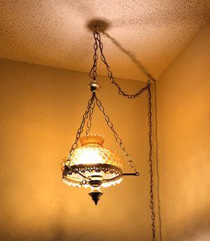 Vintage amber hanging lamp for Sale in Portland, OR