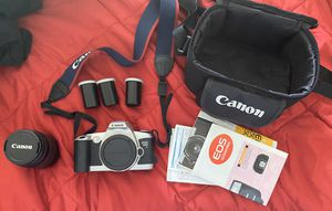Canon EOS 500N 35mm SLR Film Camera with 28-80mm lense, Case, UV Protector for Sale in Miami Beach, FL