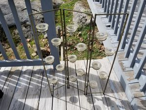 Metal and Glass Candle Holder Decor for Sale in Fitchburg, MA