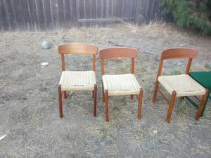 3 Danish style chairs for Sale in Oceanside, CA