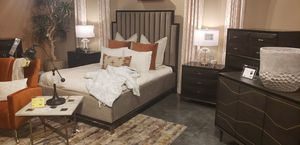 Queen size Upholstered bed frame. Available in different colors and sizes. $53 DOWN PAYMENT for Sale in Orlando, FL