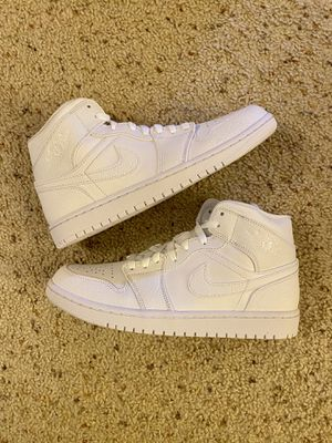 New Air Jordan 1 Mid (sz 10) white 2.0 (2020) for Sale in El Cerrito, CA