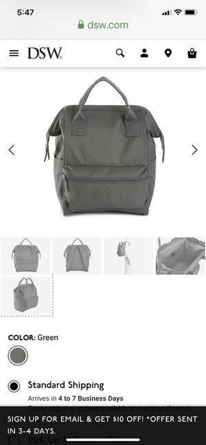 DSW OLIVE GREEN BACKPACK. NIB for Sale in Crescent Springs, KY