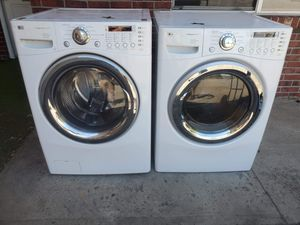LG washer and electric dryer set good working condition for Sale in Denver, CO