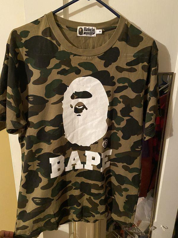 BAPE Green Camo Big APE head T-shirt