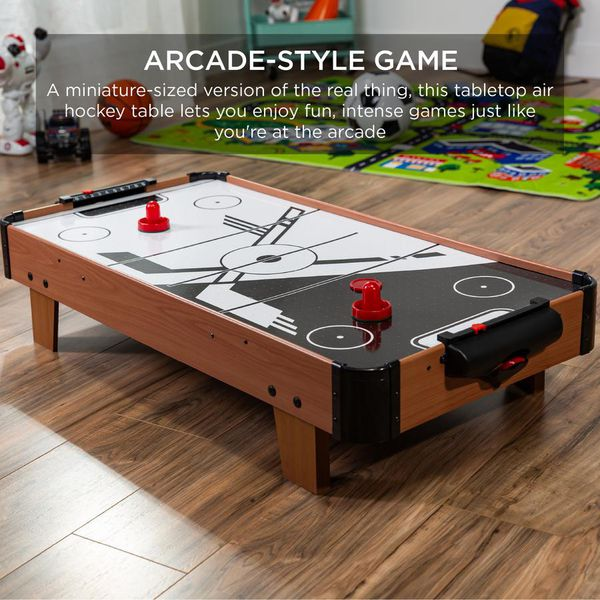 Gaming Gift Idea Tabletop Air Hockey Arcade Game Table w/ 2 Pucks, 2 Strikers - 40in