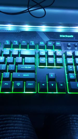 Blackweb color changing mechanical keyboard for Sale in Mount Carroll, IL