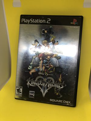 KINGDOM HEARTS II COMPLETE BLACK LABEL PS2 GAME GOOD CONDITION for Sale in Atlanta, GA