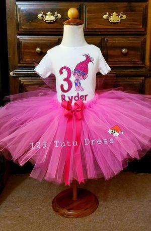 Trolls Poppy Birthday Tutu Outfit for Sale in El Monte, CA
